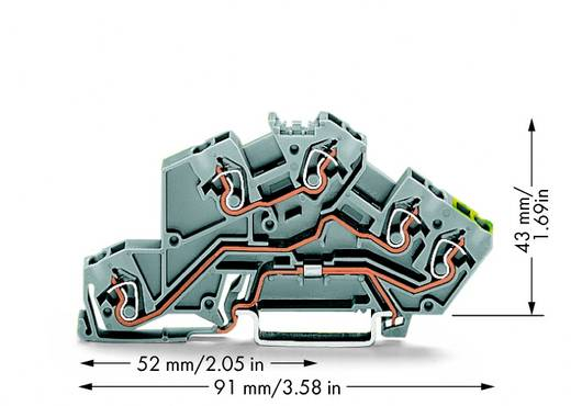 Installationsetagenklemme 5 mm Zugfeder Belegung: L, L, PE Grau WAGO 775-645 50 St.