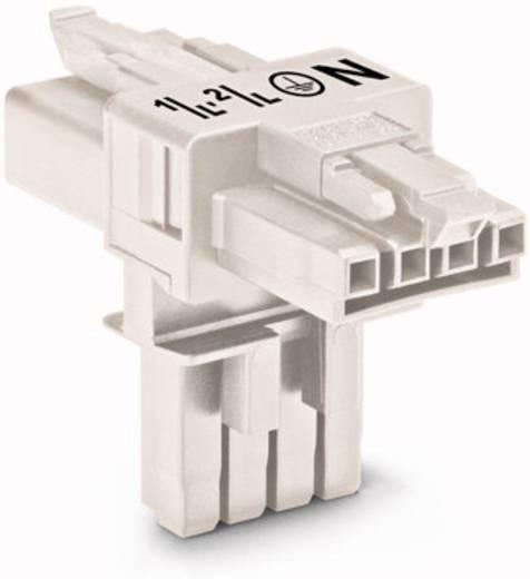 Netz-T-Verteiler Netz-Stecker - Netz-Buchse, Netz-Buchse Gesamtpolzahl: 4 Weiß WAGO 890-676 25 St.