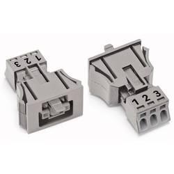 Sieťový konektor WAGO zásuvka, rovná, počet kontaktov: 3, 16 A, 250 V, svetlozelená, 50 ks