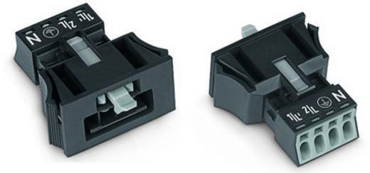 Netz-Steckverbinder Serie (Netzsteckverbinder) WINSTA MINI Stecker, gerade Gesamtpolzahl: 4 16 A Grau WAGO 890-754 50 S