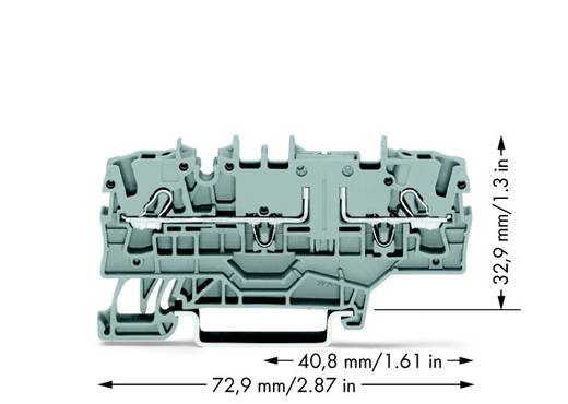 Durchgangsklemme 5.20 mm Zugfeder Belegung: L Grau WAGO 2002-1901 50 St.