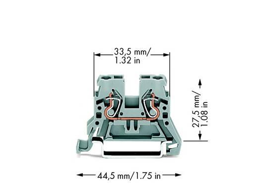 Durchgangsklemme 5 mm Zugfeder Belegung: L Grau WAGO 870-901 100 St.
