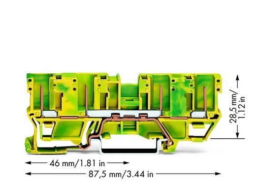 Schutzleiterklemme 5 mm Steck-Klemm Belegung: PE Grün-Gelb WAGO 769-207 50 St.