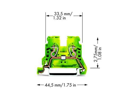 Schutzleiterklemme 5 mm Zugfeder Belegung: PE Grün-Gelb WAGO 870-907 100 St.