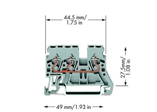 Durchgangsklemme 5 mm Zugfeder Belegung: L Grau WAGO 870-681 100 St.