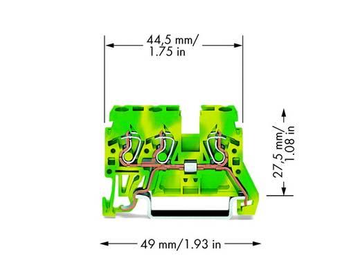 Schutzleiterklemme 5 mm Zugfeder Belegung: PE Grün-Gelb WAGO 870-687 100 St.