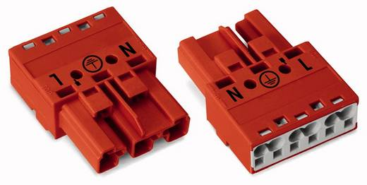 Netz-Steckverbinder Serie (Netzsteckverbinder) WINSTA MIDI Stecker, gerade Gesamtpolzahl: 3 25 A Rot WAGO 770-1313 100