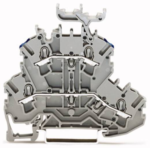Doppelstock-Durchgangsklemme 5.20 mm Zugfeder Belegung: L, N Grau WAGO 2002-2233 50 St.