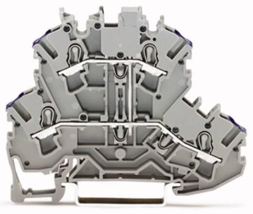 Doppelstock-Durchgangsklemme 5.20 mm Zugfeder Belegung: L Grau WAGO 2002-2208 50 St.