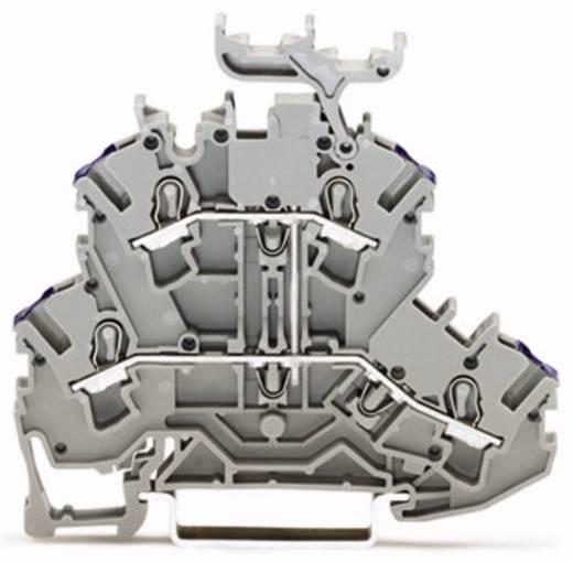 Doppelstock-Durchgangsklemme 5.20 mm Zugfeder Belegung: L Grau WAGO 2002-2238 50 St.