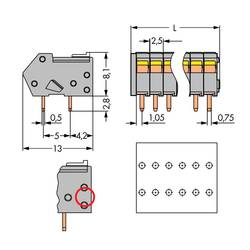 Pružinová svorka WAGO 218-111/000-012, 0.50 mm², Počet pinov 11, oranžová, 160 ks