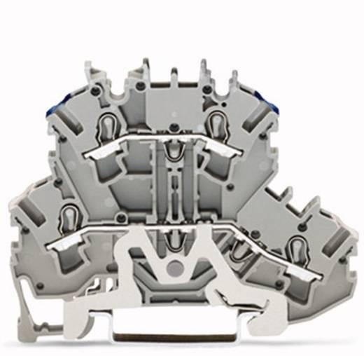 Doppelstock-Schirmleiterklemme 5.20 mm Zugfeder Belegung: N Grau WAGO 2002-2218 50 St.