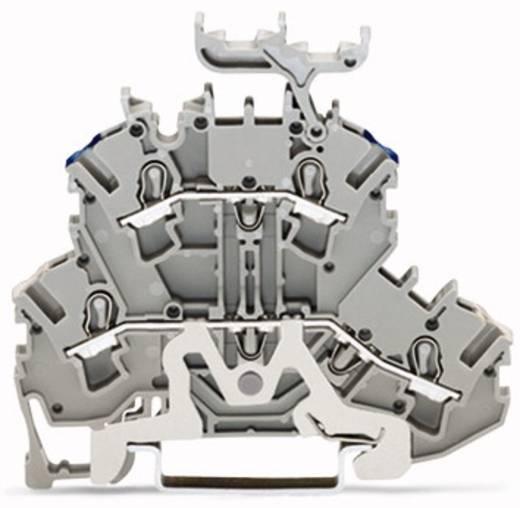 Doppelstock-Schirmleiterklemme 5.20 mm Zugfeder Belegung: N Grau WAGO 2002-2248 50 St.