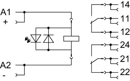 Stecksockel mit Industrierelais; Spulenspannung: DC 24 V; 2 Wechsler