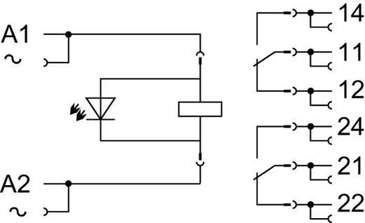 Stecksockel mit Industrierelais; Spulenspannung: AC 230 V; 2 Wechsler