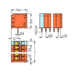 Pružinová svorka WAGO 739-339/100-000, 1.50 mm², Počet pinov 9, 120 ks