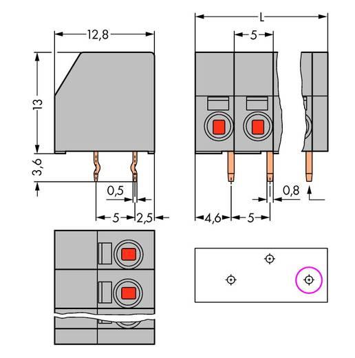 Federkraftklemmblock Polzahl 15 253-115 WAGO Grau 60 St.