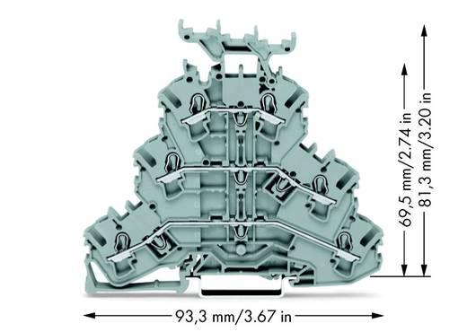 Dreistock-Durchgangsklemme 5.20 mm Zugfeder Belegung: L, L, L Grau WAGO 2002-3231 50 St.