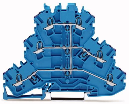 Dreistock-Durchgangsklemme 5.20 mm Zugfeder Belegung: N Blau WAGO 2002-3209 50 St.