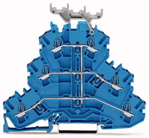 Dreistock-Durchgangsklemme 5.20 mm Zugfeder Belegung: N Blau WAGO 2002-3239 50 St.