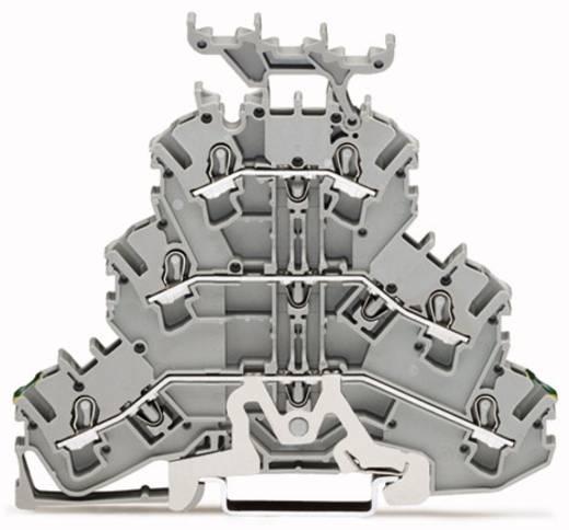 Dreistock-Schutzleiterklemme 5.20 mm Zugfeder Belegung: PE, L, L Grau WAGO 2002-3257 50 St.