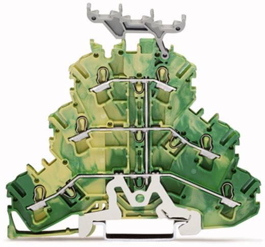 Dreistock-Schutzleiterklemme 5.20 mm Zugfeder Belegung: PE Grün-Gelb WAGO 2002-3237 50 St.