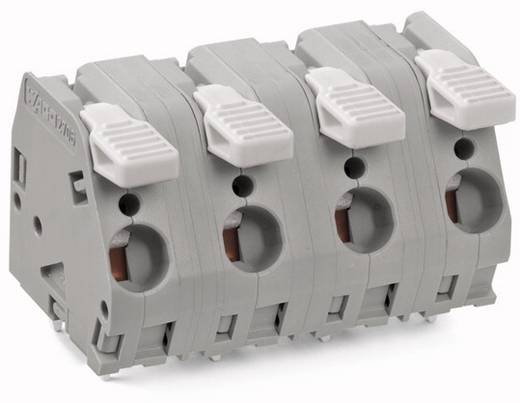 Federkraftklemmblock 6.00 mm² Polzahl 6 WAGO Grau 15 St.