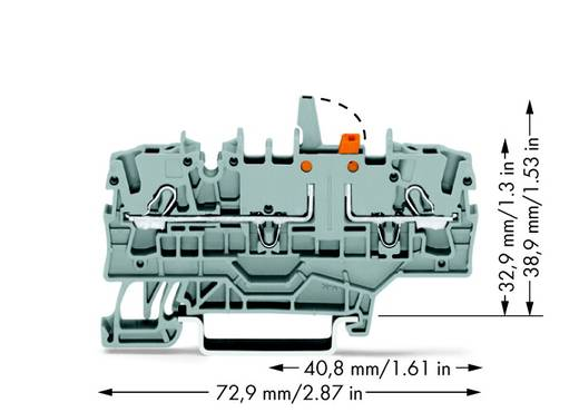 Trennklemme 5.20 mm Zugfeder Belegung: L Grau WAGO 2002-1971/401-000 50 St.