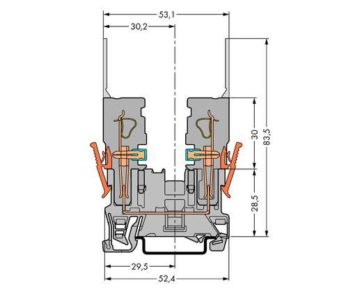 Basisklemme 5 mm Zugfeder Belegung: L Grau WAGO 769-156 100 St.