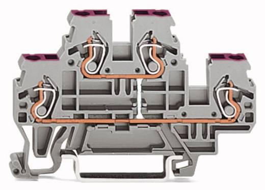 Doppelstock-Durchgangsklemme 5 mm Zugfeder Belegung: N Grau WAGO 870-509 50 St.