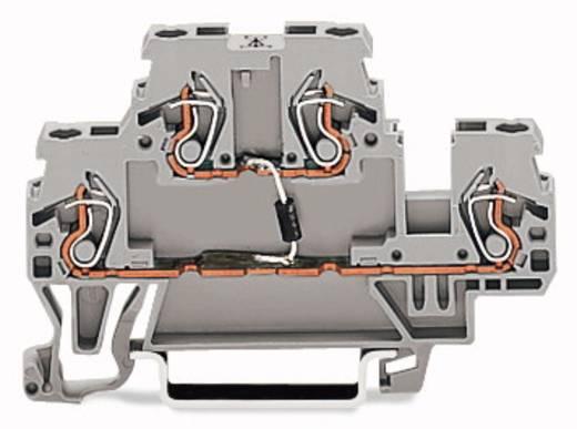 Doppelstock-Diodenklemme 5 mm Zugfeder Belegung: L Grau WAGO 870-540/281-411 50 St.