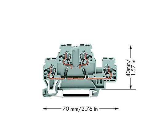 Doppelstock-Diodenklemme 5 mm Zugfeder Belegung: L Grau WAGO 870-542/281-487 50 St.
