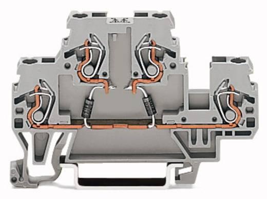 Doppelstock-Diodenklemme 5 mm Zugfeder Belegung: L Grau WAGO 870-542/281-488 50 St.