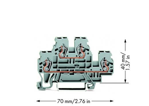 Doppelstock-Durchgangsklemme 5 mm Zugfeder Belegung: L, L Grau WAGO 870-501 50 St.