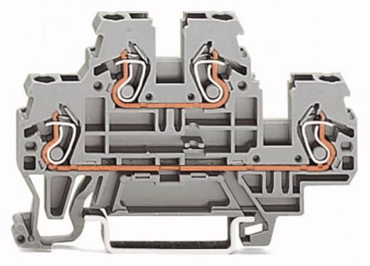 Doppelstock-Durchgangsklemme 5 mm Zugfeder Belegung: L, N Grau WAGO 870-503 50 St.
