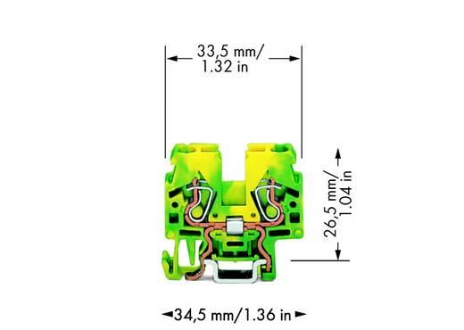 Schutzleiterklemme 5 mm Zugfeder Belegung: PE Grün-Gelb WAGO 870-917 100 St.