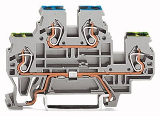 Doppelstock-Schutzleiterklemme 5 mm Zugfeder Belegung: PE, L Grau WAGO 870-527 50 St.