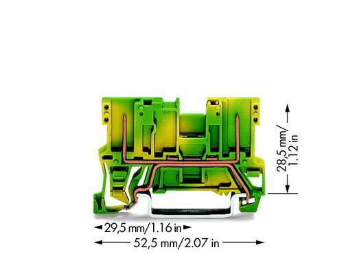 Basisklemme 5 mm Zugfeder Belegung: PE Grün-Gelb WAGO 769-227 100 St.