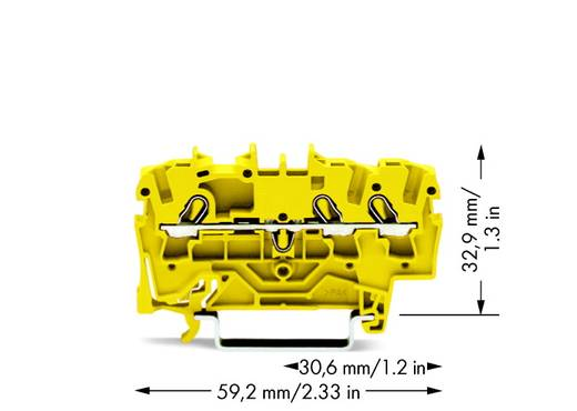 Durchgangsklemme 5.20 mm Zugfeder Gelb WAGO 2002-1306 100 St.