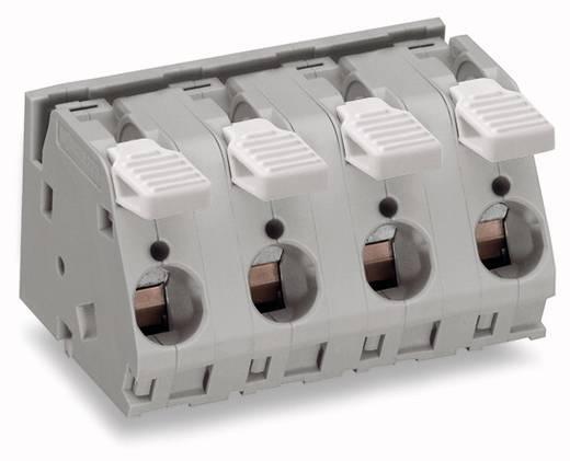Federkraftklemmblock 6.00 mm² Polzahl 6 WAGO Grau 12 St.