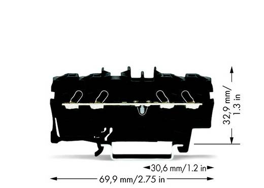 Durchgangsklemme 5.20 mm Zugfeder Schwarz WAGO 2002-1405 100 St.