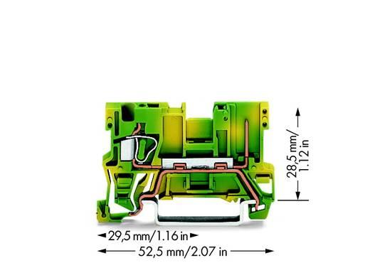 Basisklemme 5 mm Zugfeder Belegung: PE Grün-Gelb WAGO 769-237 100 St.