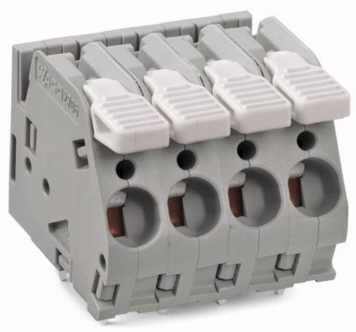 Federkraftklemmblock 6.00 mm² Polzahl 10 WAGO Grau 15 St.