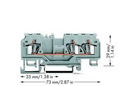 Bloc de jonction traversant WAGO 880-681 5 mm ressort de traction Affectation des prises: L gris 100 pc(s)