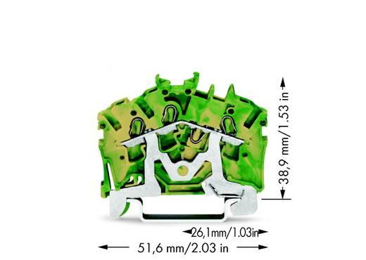 Schutzleiterklemme 5.20 mm Zugfeder Belegung: PE Grün-Gelb WAGO 2002-6307 100 St.