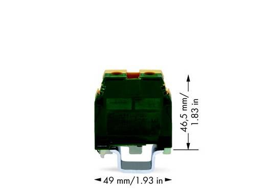 Schutzleiterklemme 16 mm Schrauben Belegung: PE Grün-Gelb WAGO 400-465/465-111 20 St.