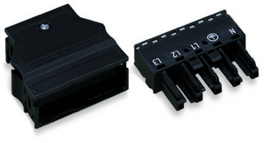 Netz-Steckverbinder Serie (Netzsteckverbinder) WINSTA MIDI Buchse, gerade Gesamtpolzahl: 5 25 A Schwarz WAGO 25 St.