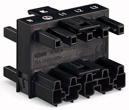 Netz-Verteiler Netz-Stecker - Netz-Buchse, Netz-Buchse, Netz-Buchse Gesamtpolzahl: 5 Schwarz WAGO 770-609 25 St.
