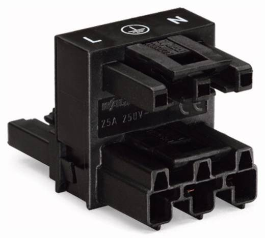 Netz-H-Verteiler Netz-Stecker - Netz-Buchse, Netz-Buchse Gesamtpolzahl: 3 Weiß WAGO 770-685 50 St.