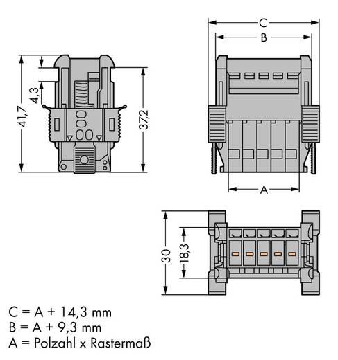 WAGO Buchsengehäuse-Kabel 769 Polzahl Gesamt 15 Rastermaß: 5 mm 769-615/006-000 10 St.